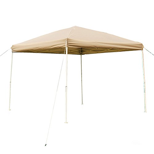 NatureFun 10 X Feet Outdoor Steel Frame Pop Up Patio Instant Canopy PU Coated