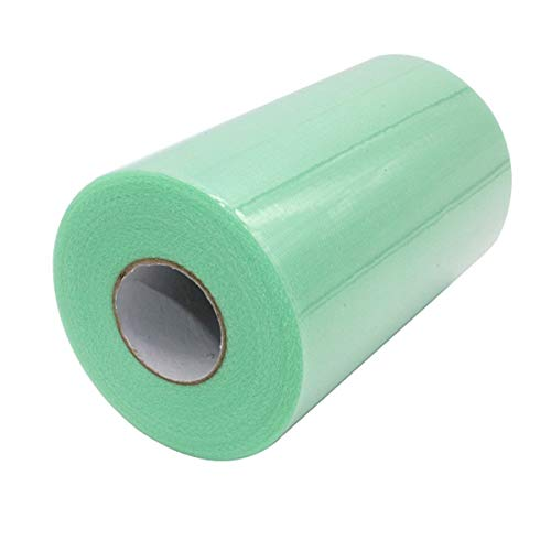 Queenbox 6 Inch x 100 Yards (300FT) Tulle Roll Spool Tutu Skirt Fabric Wedding Party Gift Bow Craft,Mint Green