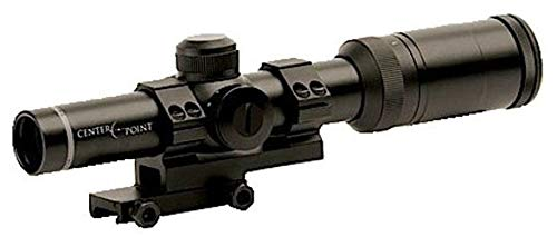 CenterPoint 1-4x20 MSR Rifle Scope with Offset Picatinny Mount and Glass Reticle