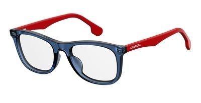 Carrera Plastic Rectangular Eyeglasses 49 08RU Blue Red (Carrera Eyeglass Frames)