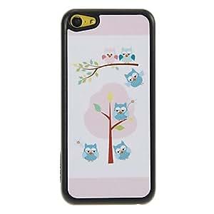 MOFY-Owl Estilo Fresh Home Patr—n Shimmering PC caso duro para el iPhone 5C