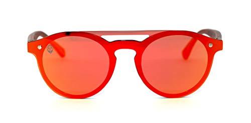 Óculos De Sol De Acetato Com Madeira Merida Red, MafiawooD