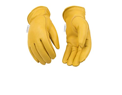 Kinco 035117090002 90Hkw Women's Lined Deerskin Leather Ranch and Work Glove, Small ()