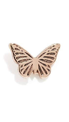 Zoe Chicco Women's 14k Gold Itty Bitty Butterfly Single Stud Earring, Yellow Gold, One Size