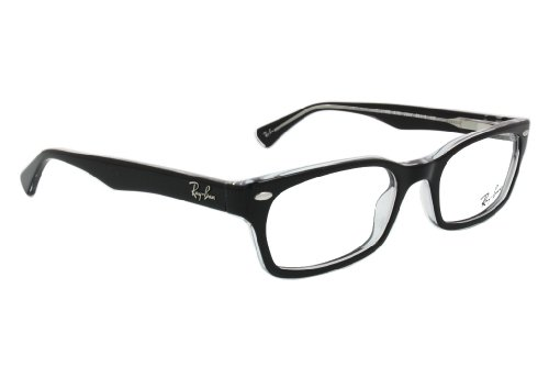 Ray Ban Optical Womens 5150 Black On Transparent Frame Plastic Eyeglasses 50mm