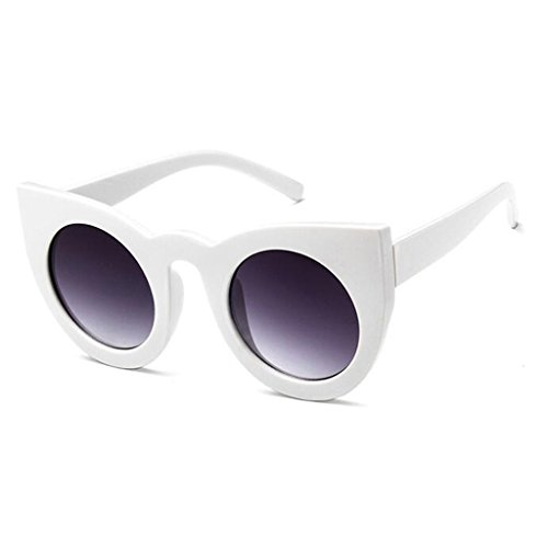 QZ HOME Sunglasses Cat glasses Polarized light Beach Simple Vintage fashion personality (Color : 3)
