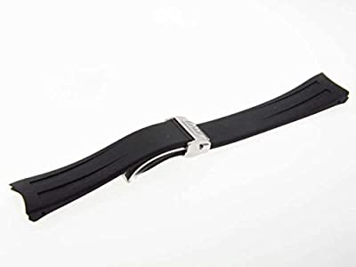 Raymond Weil Men's 22mm Black Rubber Watch Band by Raymond Weil