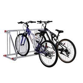 Grid Bike Rack, Single Sided, Powder Coated Galvanized Steel, 5-Bike Capacity by Global Industrial