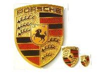 New Genuine OEM Porsche WAP013002 Sticker Crest (65Mm X 53Mm Stick On Logo) Z De