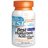 Doctors Best Best Hyaluronic Acid with Chondroitin Sulfate, 180 caps
