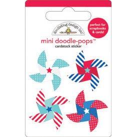 DOODLEBUG Stars & Stripes Doodle-Pops Embellished 3-D ()