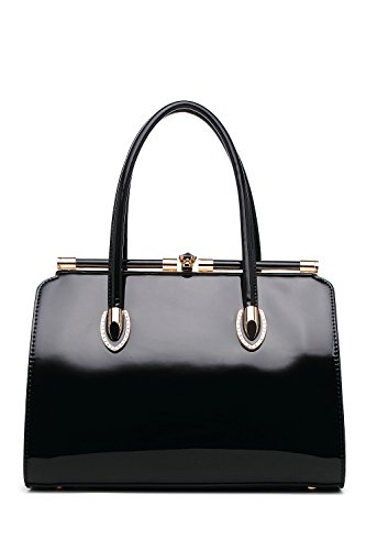 MKF Collection Candy Satchel, Crossbody Bag. (Black)