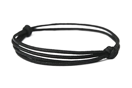 The Wanderer Adjustable Bracelet of Layered Black Hemp Cord – Handmade by Fortunate Wanderer