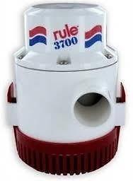 Rule 14A 3700 GPH Heavy Duty Bilge Pump, Non-Automatic, 12 Volt