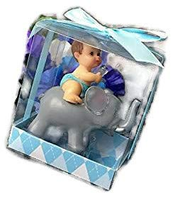 1 Pc Baby Shower Favors Party Decoration Its A Baby Boy Blue Elephant Keepsake by L&R -