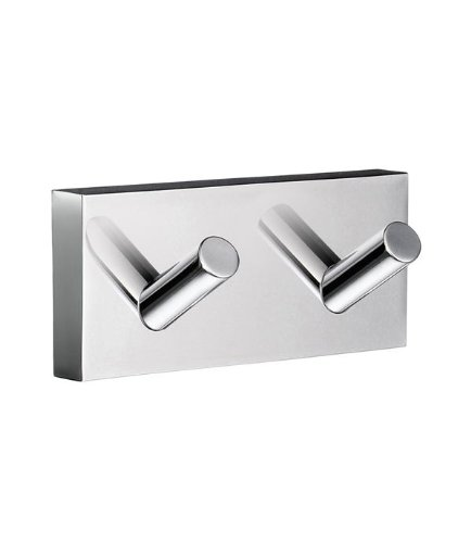 Smedbo House Double Towel Hook RK356 Polished Chrome .Include Glue.Fixing Without Drilling