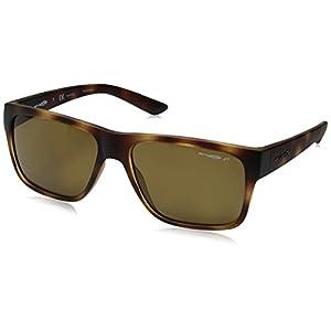 Arnette Men's Reserve Polarized Square Sunglasses, Matte Havana, 57 mm