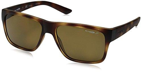 Arnette Men's Reserve Polarized Square Sunglasses, Matte Havana, 57 - Arnette Sunglasses Heist