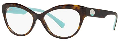 Tiffany & Co. TF 2176 Eyeglasses for Women Prescription Frame 2019 Collection (Dark Havana 8015, ()