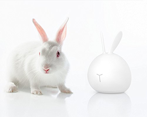 Silicone LED Night Light, ASICEN Cute Baby Kids Children Night Light Soft Silicone Warm Light Tap Control Lamp Rechargeable Bunny Sensor Touch Light Rabbit Gift Toy Night Light(7-color + 4-Brightness) by ASICEN (Image #7)