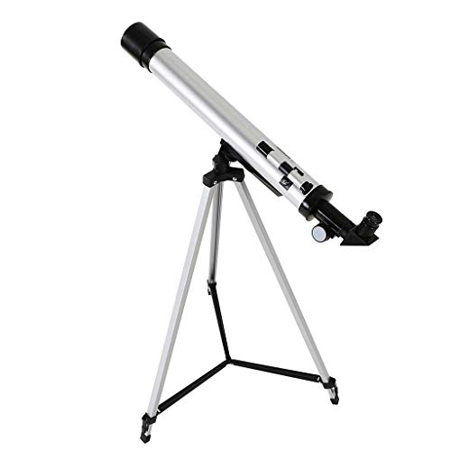 Lanyun Astronomical Refractor Telescope, Stargazing Telescope,600/50mm Astronomical Refractor Telescope Refractive EyepiecesAdjustable Aluminum Tripod Beginners Easy to Carry and Store