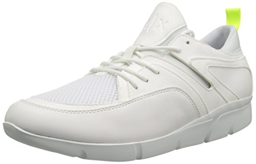 Mesh A Detail Armani X Athletic Men Bianco Sneaker Exchange Lowtop 6qxSUCqwY