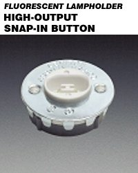 Leviton 524 Fluorescent Lampholder for T12 HO Snap-In Steel Cover Stationary - White ( Package of 100)