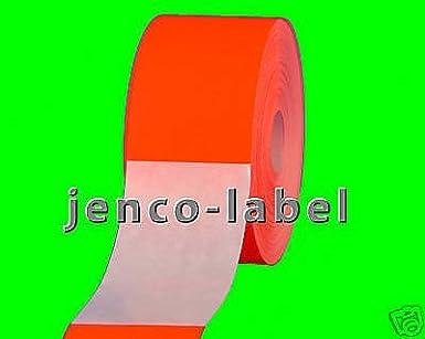 Amazon com: Jenco-Label FR2400R, 500 2x4 Red Fluorescent