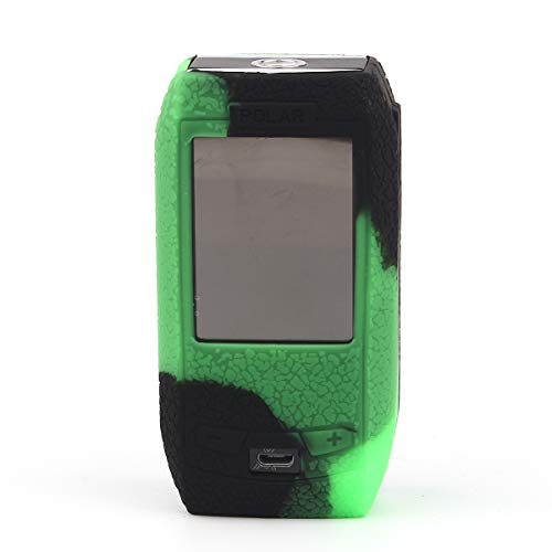 CEOKS for Vaporesso Polar 220W Silicone Case, Anti-Slip Protective Silicone Case Skin Rubber Cover for Vaporesso Polar 220W TC Mod Box Rubber case wrap Shield (Black/Green)