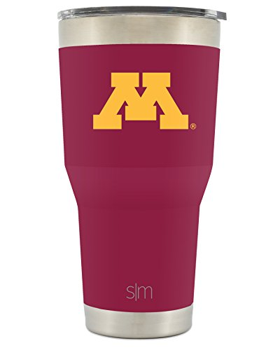 Simple Modern Minnesota University 30oz Cruiser Tumbler - Vacuum Insulated Stainless Steel Travel Mug - UMN Golden Gophers Tailgating Hydro Cup College (Minnesota Golden Gophers Metal)