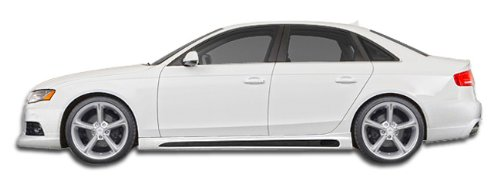 Extreme Dimensions Side Skirts - Extreme Dimensions ED-BOE-761 R-1 Side Skirts Rocker Panels - 2 Piece Body Kit - Compatible For Audi A4 2009-2018