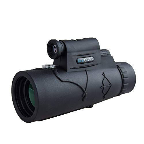 Monocular Telescope - 12x50 High Powered Spotting Scope for Adults and Children with Smartphone Adapter - Laser Pointer
