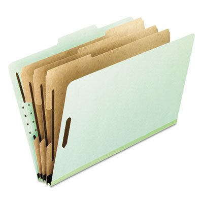Pendaflex : Pressboard Classification Folders, Letter, 8-Section, Green, 10/Box -:- Sold as 1 BX by Pendaflex