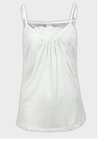 NJ - Camiseta sin mangas - para mujer blanco