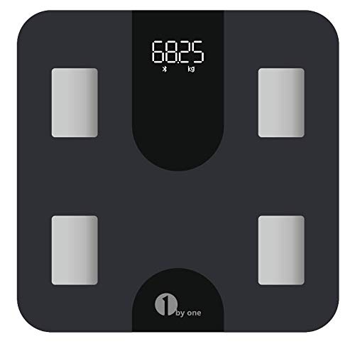 1byone WiFi Body Fat Scales for Body Weight,Smart Bluetooth Digital Bathroom Scale,BMI13 Body Composition Analyzer with Smartphone App,400 lbs, Accurate Step-On Technology,Batteries Included