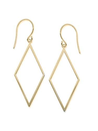 Draw the Line 14k Yellow Gold Diamond-shape Dangle Earrings Geometric