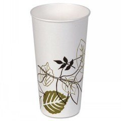 DIX22PPATH - Dixie Pathways Polycoated Paper Cold Cups, 21 Oz, White/brown/green