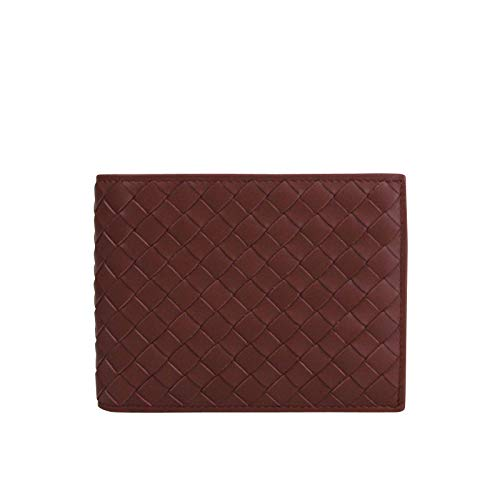 (Bottega Veneta Men's Intercciaco Bifold Dark Brown Leather Wallet 148324 2217 )