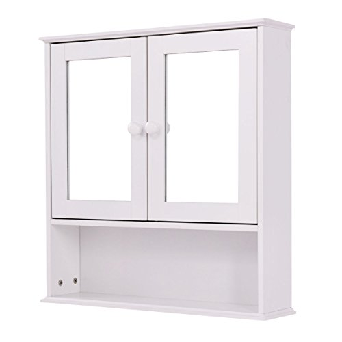 double mirrored bathroom cabinet tangkula bathroom cabinet mirror door wall mount 15027