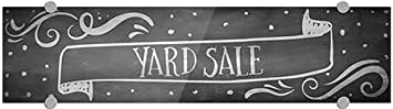 Chalk Banner Premium Acrylic Sign 24x6 Yard Sale 5-Pack CGSignLab