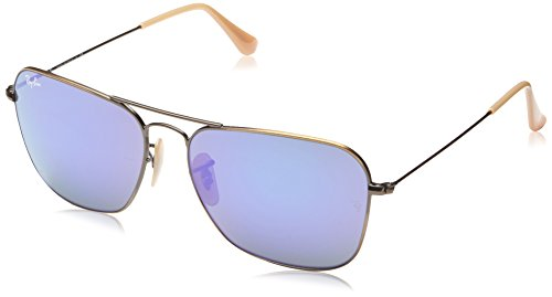 Ray-Ban Unisex RB3136 58mm Brushed Bronze Demi - Ray Sunglasses Ban Aviator Clear