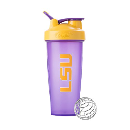 (BlenderBottle Collegiate Classic 28-Ounce Shaker Bottle, Louisiana State University Tigers - Purple/Yellow)