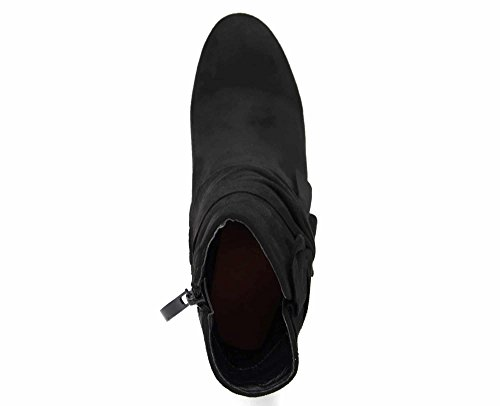 Noeud Drapé Côté Daim Talon Shf98 noir Bottines Avec Oh Et Carré Boots Sur Shop Effet My nqRBwPa7