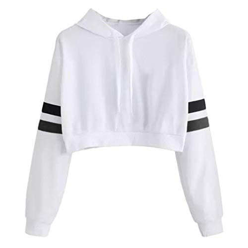 Sttech1 Casual Tops for Women, Women Solid Color Short Parallel Bars Hooded Short Sweater