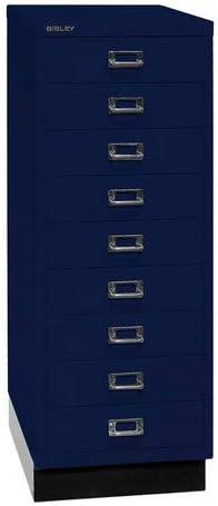 Metall 39er Serie mit Sockel 43.2 x 34.9 x 94 cm 9 Schubladen 355 Silber Bisley MultiDrawer DIN A3