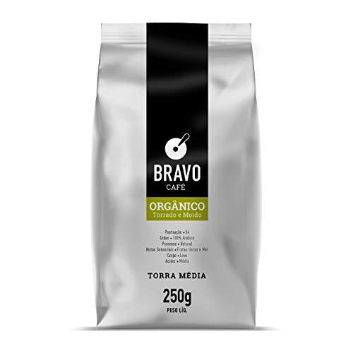 Bravo Café Orgânico Torrado e Moído 250g Bravo Café Sabor Mel
