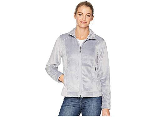 (White Sierra Women's Skyland Plush Fleece Jacket, Large, Sleet Grey)