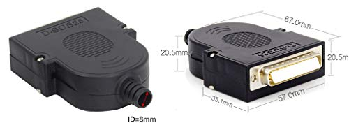 EZSync Male D-Sub DB25 Terminal Block Adapter Kit,Solderless Breakout, 2X Pack, DB25 Male, Thumb Screw, EZSync905 by EZSync (Image #2)