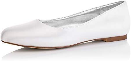 Jiajia K5371 Women S Bridal Shoes Closed Toe Dyeable Satin Flats