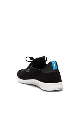 Native unisex Apollo Moc Mode Sneaker. Jiffy Black / Shell Weiß / Streifen
